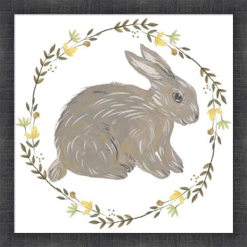 Melissa Wang 'Happy Bunny Day I' Framed Art