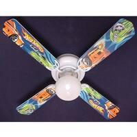 Mattel Hot Wheels Print Blades 42in Ceiling Fan Light Kit - Multi
