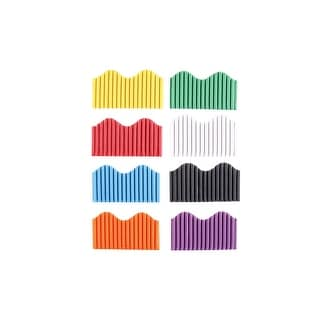 School Smart Corrugated Border Trim, 2-1/4 Inch x 50 Feet, Assorted Colors, Pack of 8