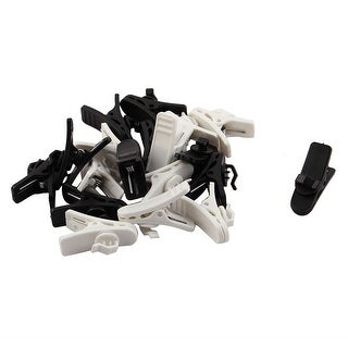 Earphone Plastic Rotatable Cable Cord Wire Fixing Clip Clamp White Black 20pcs