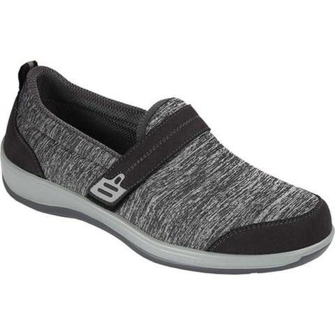 Orthofeet Women's Quincy Slip On Sneaker Gray Synthetic