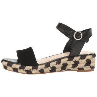 453cf2a75d1e Nine West Womens Allium Leather Open Toe Casual Espadrille Sandals