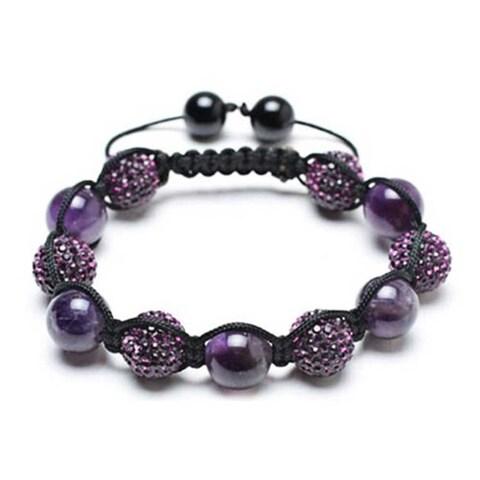 Bling Jewelry Shamballa Inspired Bracelet Crystal Amethyst Beads
