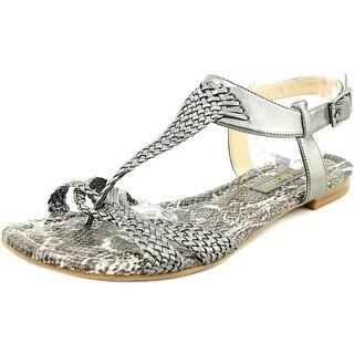 Enzo Angiolini Triton Women Open Toe Synthetic Gray Gladiator Sandal