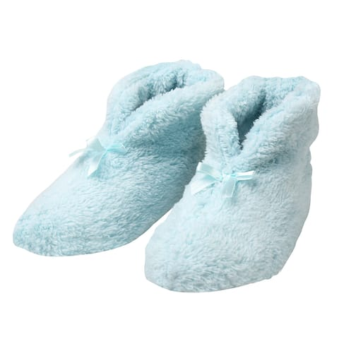 MSP Imports Women's Chenille Slippers - Soft Ultra-Plush Booties, Pink or Blue