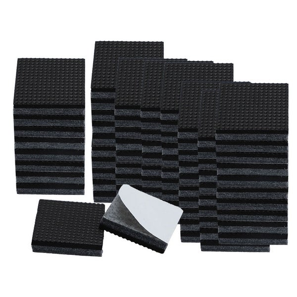 """80pcs Square 3/4"""" Felt Furniture Pads Grippers Floor Protector for Table Desk Chair Legs Gray"""
