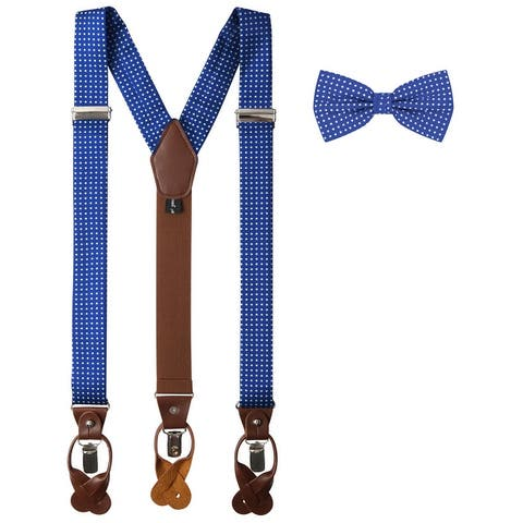 Jacob Alexander Matching Polka Dot Suspenders and Bow Tie - One Size