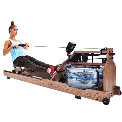 Water Resistance Rower in Ash Wood for Fitness,Water Pump Included