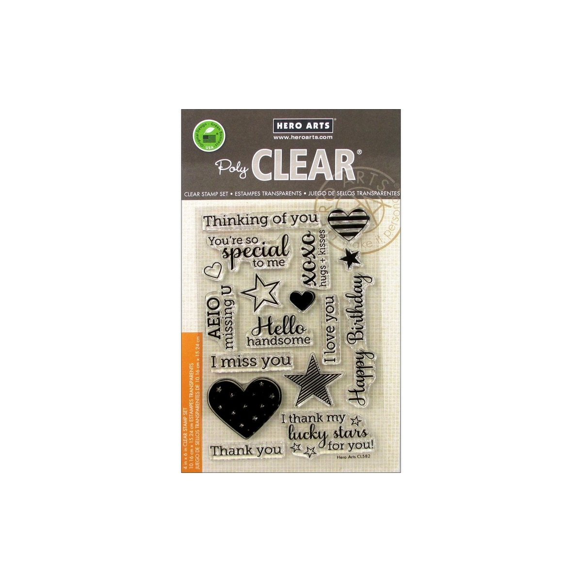 Hero Arts Year Round Card Sentiments Clear Acrylic Stamp Set CL582 NEW