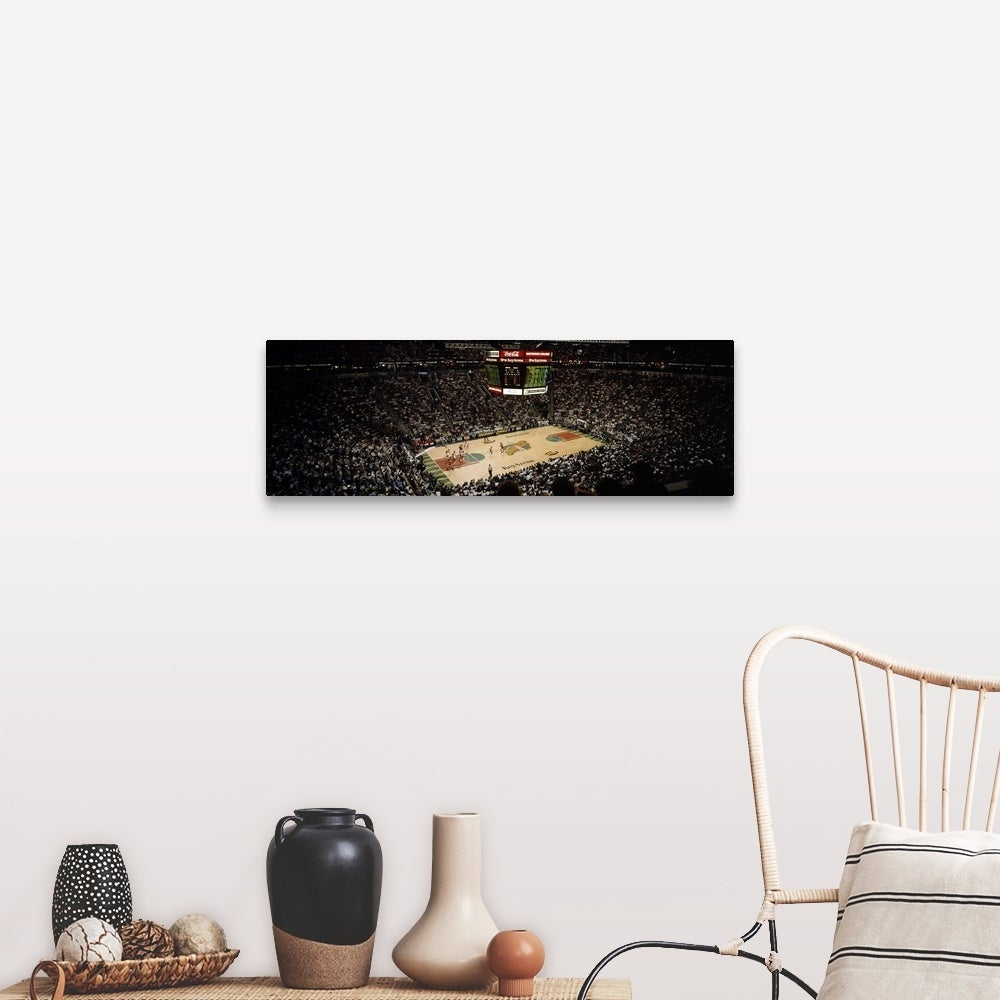Shop Spectators Watching A Basketball Match Key Arena Seattle King County Washington State Canvas Wall Art Overstock 16894816