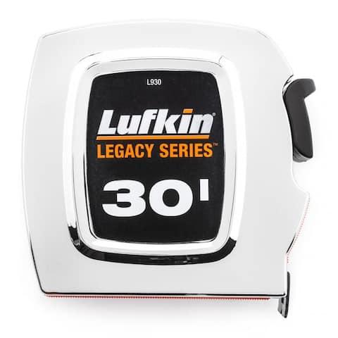 Lufkin L930 Legacy Series Tape Measure, Chrome, 30'