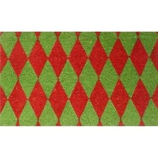 Home & More 12106 Christmas Argyle Doormat