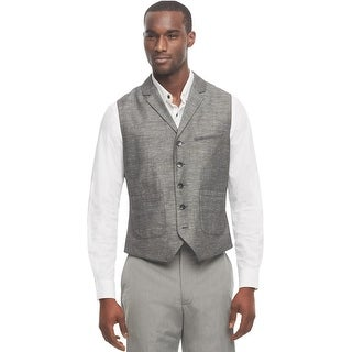 Kenneth Cole Reaction Vest Black and Grey Combo Medium M Textured