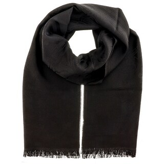 Versace IT00625 NERO Black 100% Wool Mens Scarf