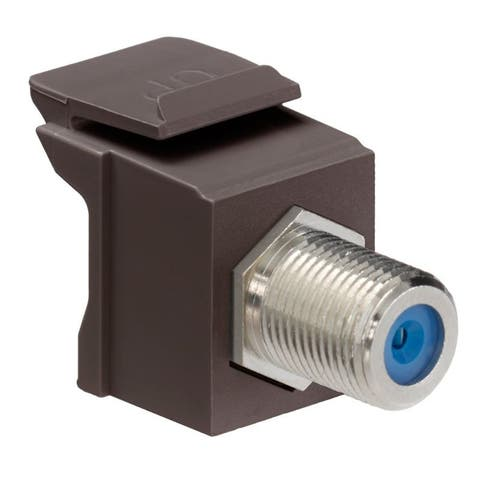 Snap in F Connector Brown