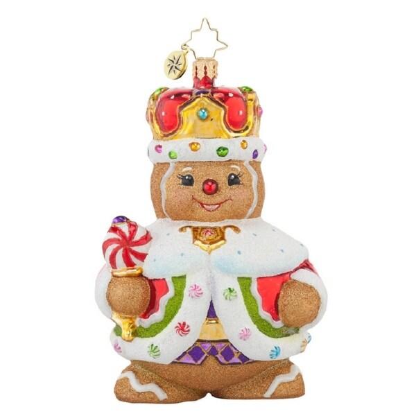 Christopher Radko Glass Ginger King Christmas Ornament #1017697 - RED