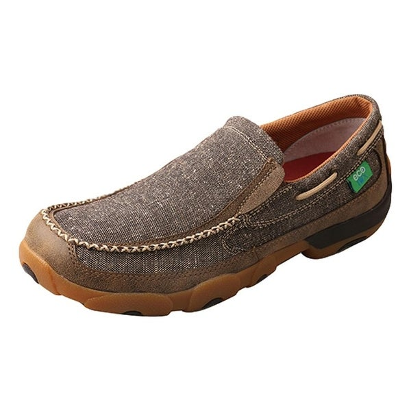 Twisted X Casual Shoes Mens Slip On Mocs ECO TWX Dust Brown