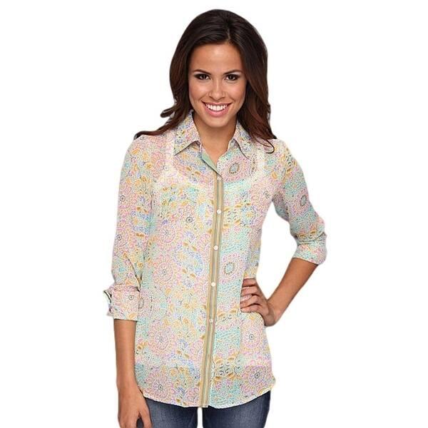 8e137d27163 Shop Stetson Western Shirt Womens L S Chiffon Green - Free Shipping ...