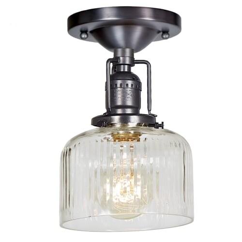 Jvi Designs 1202 S4 Cr Shyra Single Light 5 Wide Semi Flush Ceiling