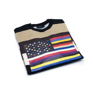 Givenchy Mens Striped Flag Cotton Sweatshirt