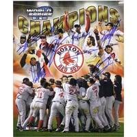 Signed Red Sox Boston 2004 8x10 Photo By David Ortiz Pedro Martinez Curt Schilling Jason Varitek Jo