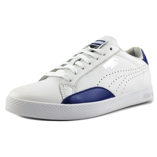 Puma Match Basic Women Round Toe Leather White Sneakers