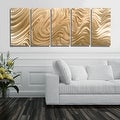 Statements2000 Copper Modern Abstract 3D Metal Wall Art Panels by Jon Allen - Copper Hypnotic Sands - Thumbnail 3