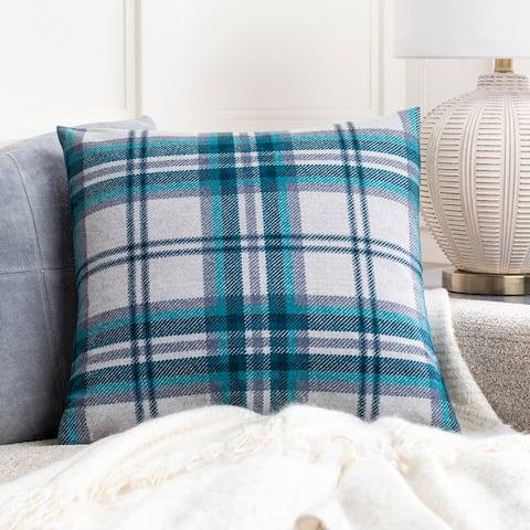 Kip Classic Plaid Knit 22-inch Throw Pillow