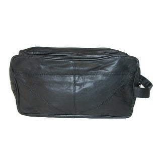 CTM® Leather Travel Dopp Kit Bag