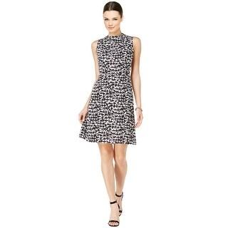 Nine West Houndstooth Sleeveless A-Line Dress - 16