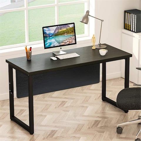 55 inch Computer Desk Modern Simply Office Desk - Black