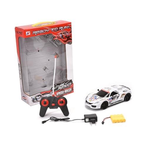 WonderPlay 1:16 Scale Remote Control Car White