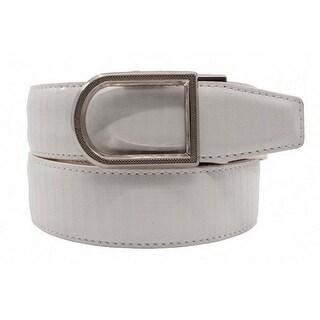 Nexbelt Brixton Men's White Lizard Embossed Leather Golf Dress Belt