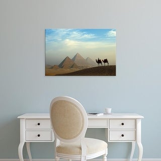 Easy Art Prints Claudia Adams's 'Giza Plateau Desert' Premium Canvas Art