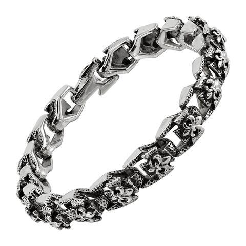 Men's Stainless Steel Lavish Chain Bracelet, 8.5 Inches