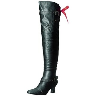 Ellie Shoes Womens Treasure Over-The-Knee Boots Faux Leather Lace Back