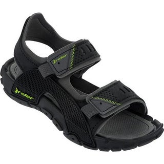 Rider Boys' Tender VIII Active Sandal Black/Gray