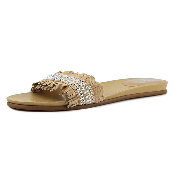 Vince Camuto Womens ettina Fabric Open Toe Casual Slide Sandals