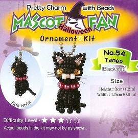 Create Your Own Miyuki Mascot Bead Charm Kit - Halloween Black Cat