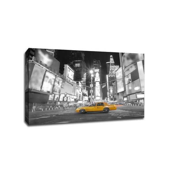 Times Square New York City - Touch of Color - 36x24 Gallery Wrapped Canvas ToC
