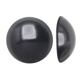 Swarovski Elements Crystal, 2080 Flatback Hotfix Cabochon Faux Pearls ss10, 50 Pieces, Dark Grey