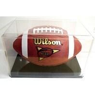 Football Display Case Black Base