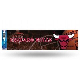 Chicago Bulls Glitter Bumper Sticker