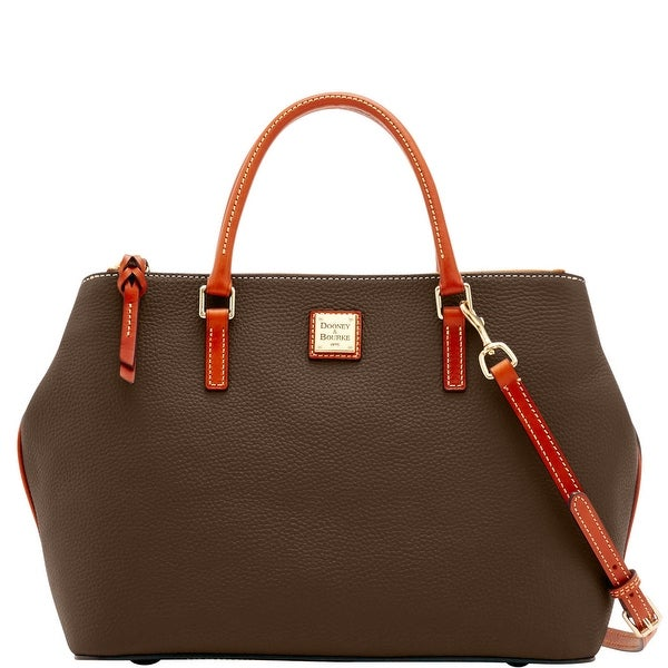 Dooney & Bourke Pebble Grain Willa Zip Satchel (Introduced by Dooney & Bourke at $288 in Jun 2016) - brown tmoro
