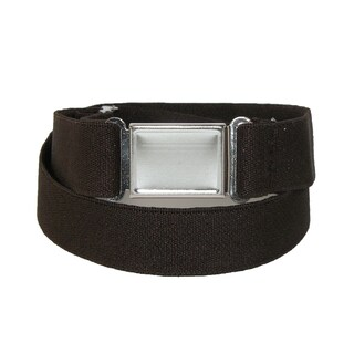 CTM® Elastic Belt with Magnetic No Show Flat Buckle - One size