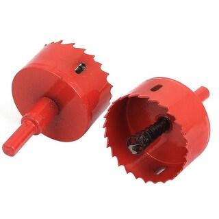 Unique Bargains 2pcs 55mm Diameter BI Metal Hole Saw Cutter Drill Bit for Aluminum Iron Wood