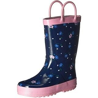 Carters Girls Bluebelr Toddler Floral Print Rain Boots - 10 medium (b,m)
