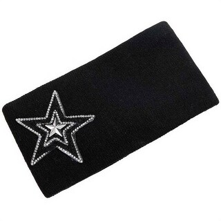 Mad Style Black Varsity Star Wide Headband