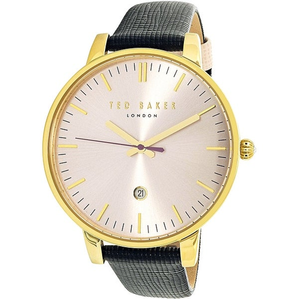 f46c537836a Shop Ted Baker Women s Black Leather Quartz Fashion Watch - Free Shipping  Today - Overstock - 18616274