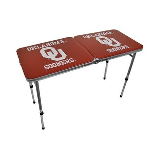 University of Oklahoma Sooners Folding Aluminum Tailgate Table - Red